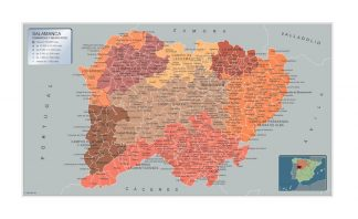 Mapa Salamanca por municipios gigante