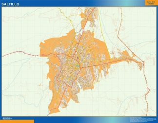 Mapa Saltillo en Mexico gigante