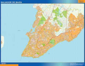 Mapa Salvador Bahia Brasil gigante