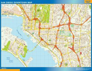 Mapa San Diego downtown gigante