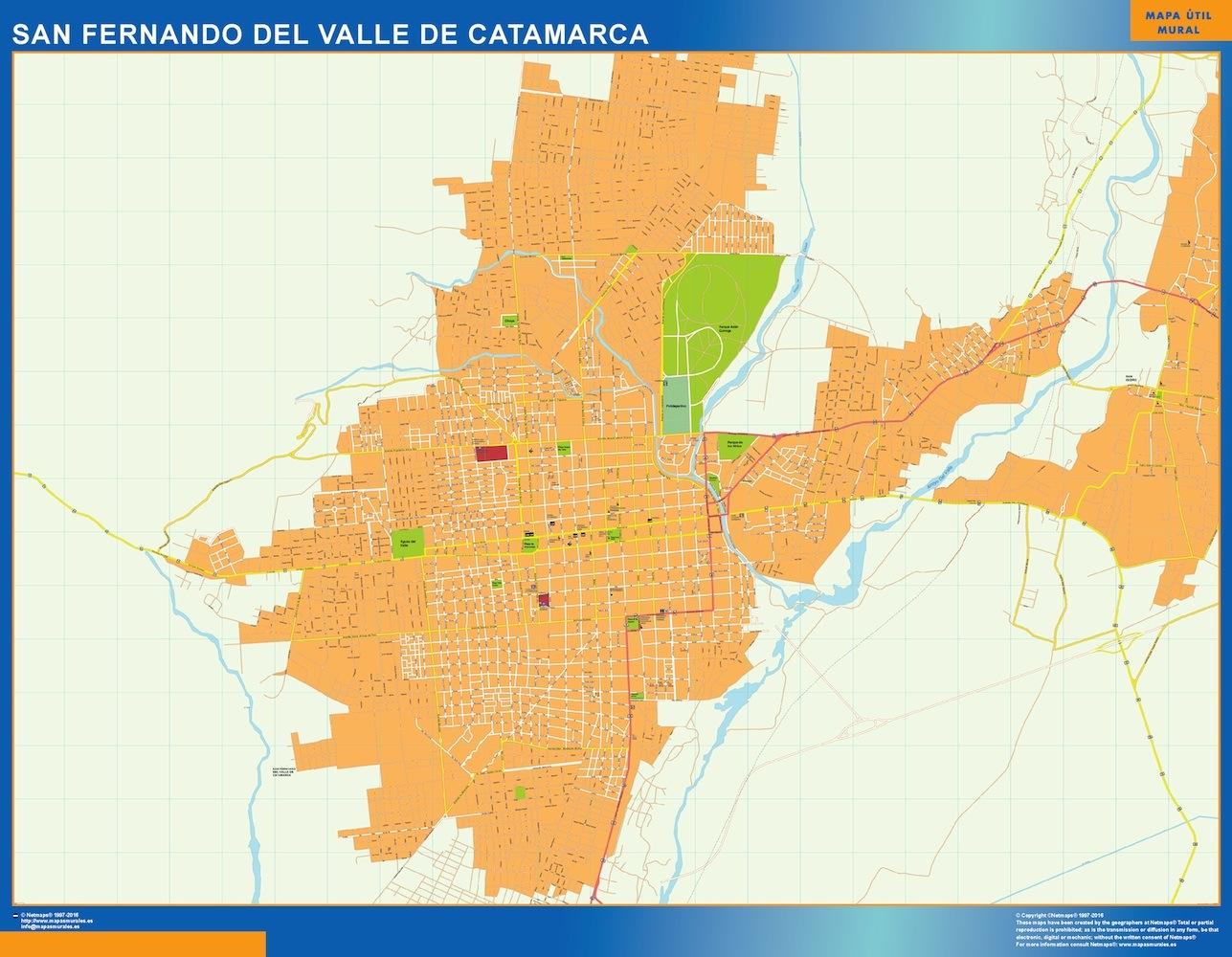 Mapa San Fernando Del Valle Catamarca En Argentina Magnetico Enmarcado Para Imanes Grande