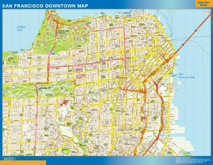 Mapa San Francisco downtown gigante