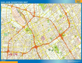 Mapa San Jose downtown gigante