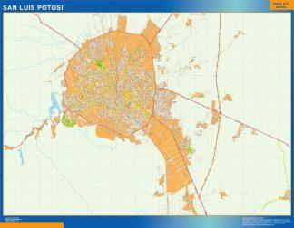 Mapa San Luis Potosi en Mexico gigante