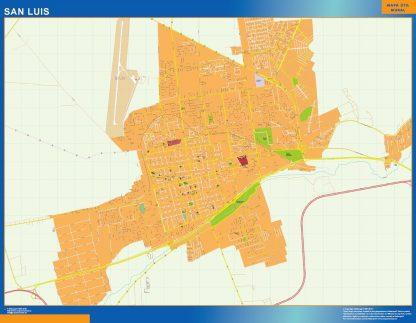 Mapa San Luis en Argentina gigante
