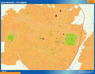 Mapa San Miguel Tucuman en Argentina gigante