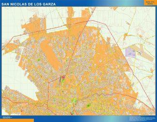 Mapa San Nicolas De Los Garza en Mexico gigante