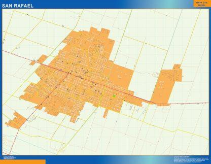 Mapa San Rafael en Argentina gigante