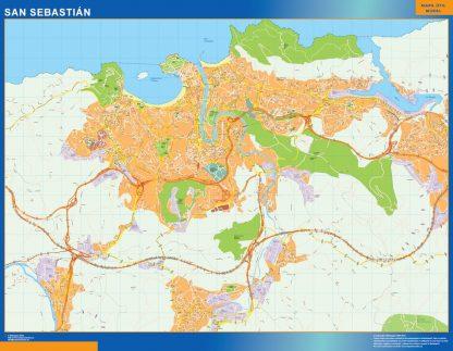 Mapa San Sebastian callejero gigante