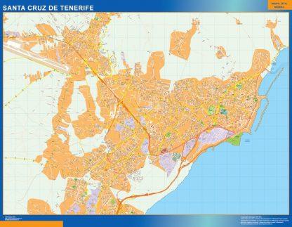 Mapa Santa Cruz Tenerife callejero gigante