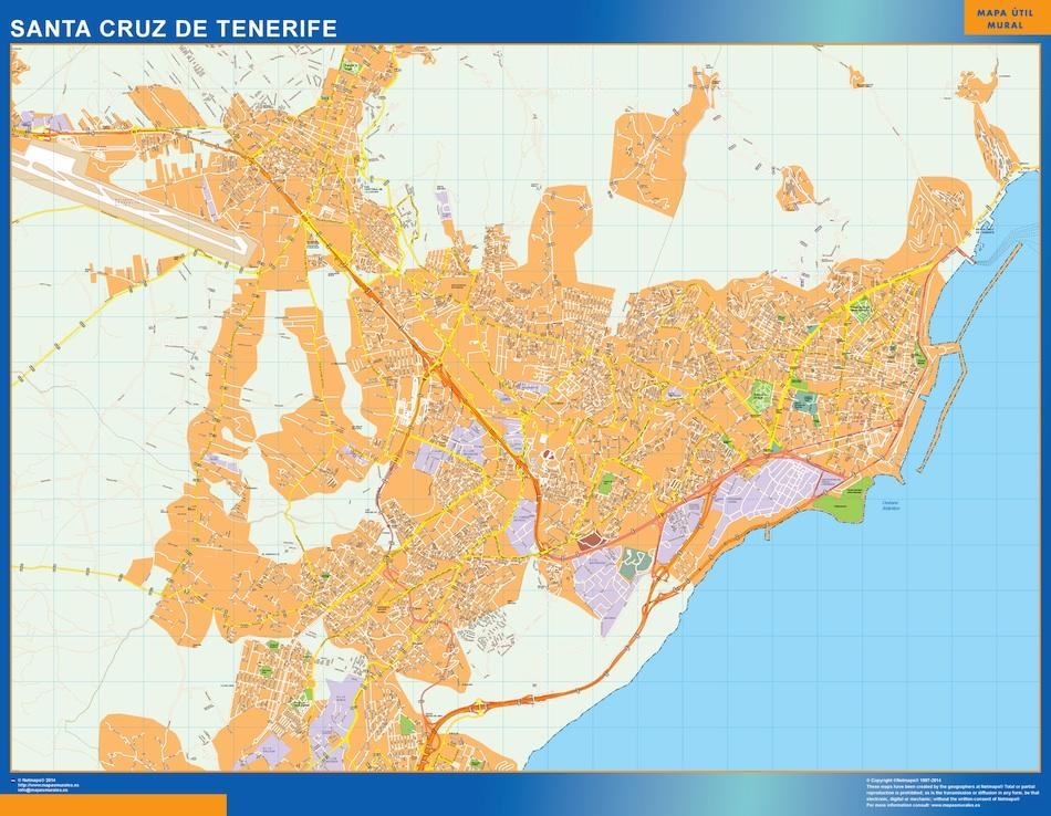 Callejero Mapa De Las Palmas.Mapa Santa Cruz Tenerife Callejero Grande