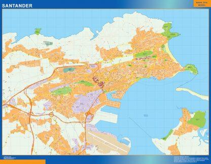Mapa Santander callejero gigante