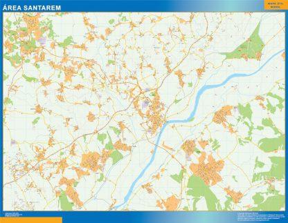 Mapa Santarem área urbana gigante