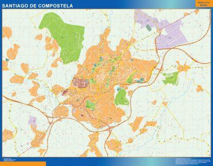 Mapa Santiago De Compostela callejero gigante