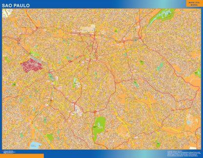 Mapa Sao Paulo Brasil gigante