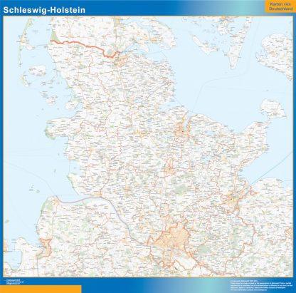 Mapa Schleswig-Holstein gigante