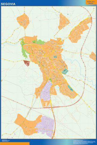 Mapa Segovia callejero gigante