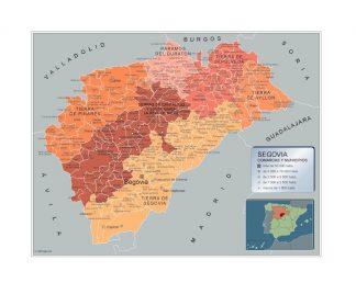 Mapa Segovia por municipios gigante