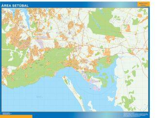 Mapa Setubal área urbana gigante