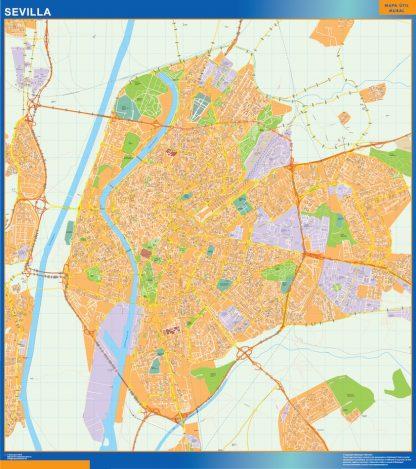 Mapa Sevilla callejero gigante