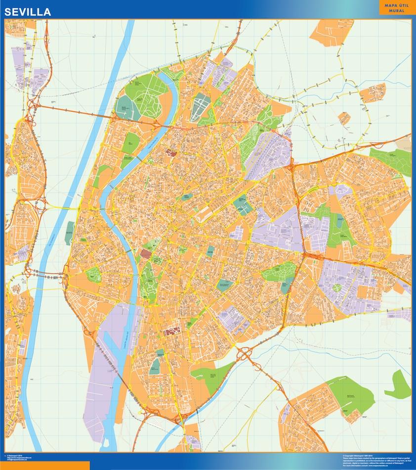 Mapa Callejero De Sevilla.Mapa Sevilla Callejero Gigante
