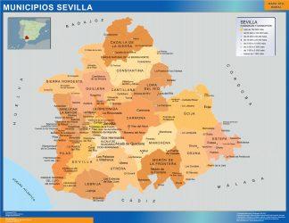 Mapa Sevilla por municipios gigante