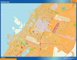 Mapa Sharjah gigante