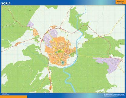 Mapa Soria callejero gigante