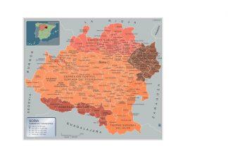 Mapa Soria por municipios gigante