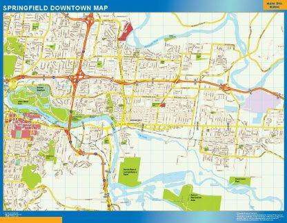 Mapa Springfield downtown gigante