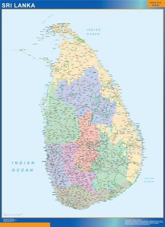 Mapa Sri Lanka gigante