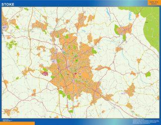 Mapa Stoke gigante