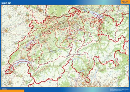 Mapa Suiza gigante