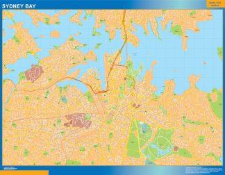 Mapa Sydney Bay Australia gigante