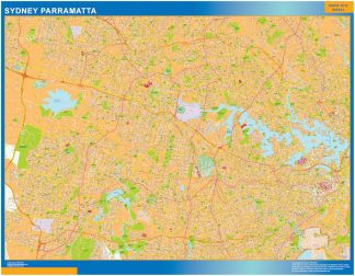 Mapa Sydney Parramatta Australia gigante