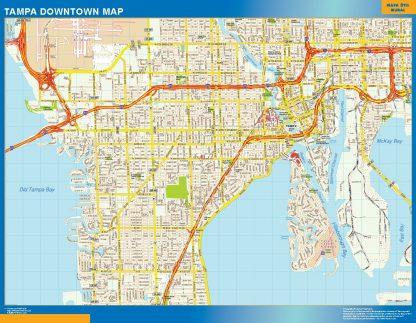 Mapa Tampa downtown gigante