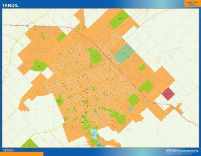 Mapa Tandil en Argentina gigante