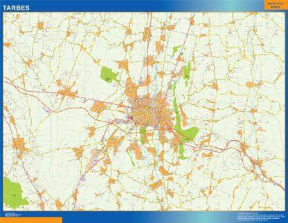 Mapa Tarbes en Francia gigante