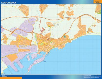 Mapa Tarragona callejero gigante
