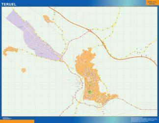 Mapa Teruel callejero gigante