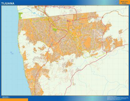 Mapa Tijuana en Mexico gigante
