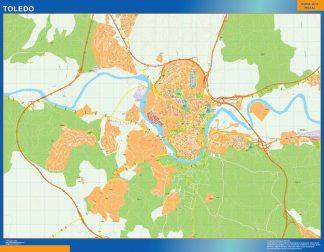 Mapa Toledo callejero gigante