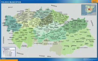 Mapa Toledo por municipios gigante