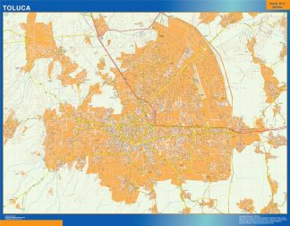 Mapa Toluca Centro en Mexico gigante