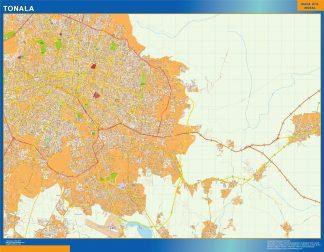 Mapa Tonala en Mexico gigante