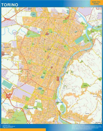 Mapa Torino gigante