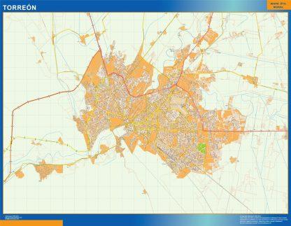 Mapa Torreon en Mexico gigante