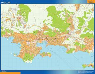 Mapa Toulon en Francia gigante