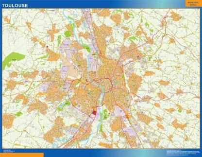 Mapa Toulouse en Francia gigante
