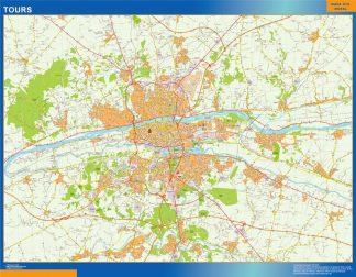 Mapa Tours en Francia gigante